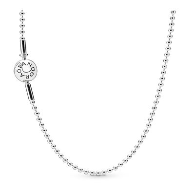 ESSENCE Beaded Silver Necklace