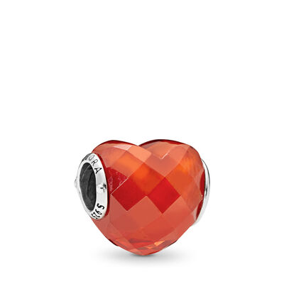 Orange Shape of Love, Sterlingsølv, Ikke andet materiale, Orange, Kubisk zirkonia - PANDORA - #796563OCZ
