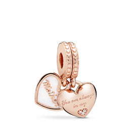 Mother & Daughter Hearts, PANDORA Rose, Emalje, Silver, Kubisk zirkonia - PANDORA - #782072EN23