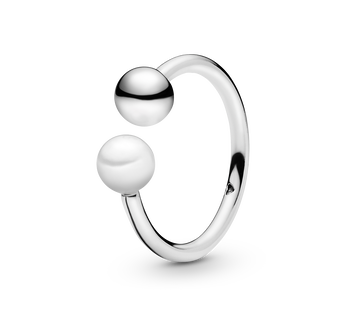 Bead & Freshwater Cultured Pearl Åben Ring