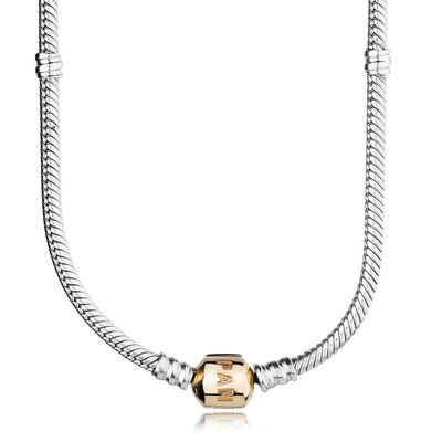 Moments Silver & Gold Clasp Necklace
