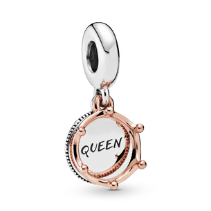 Queen & Regal Crown Charm med vedhæng