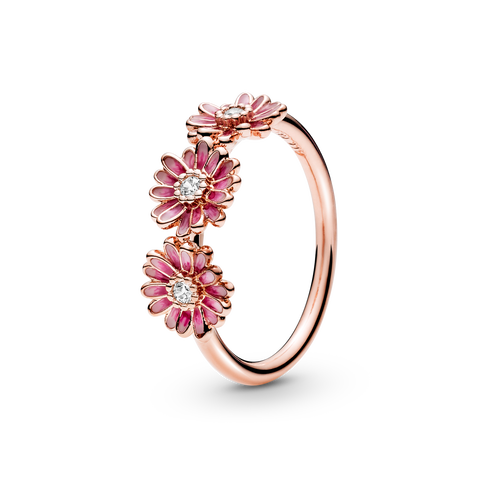 Pink Marguerittrio Ring