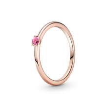 Rosa Solitairering