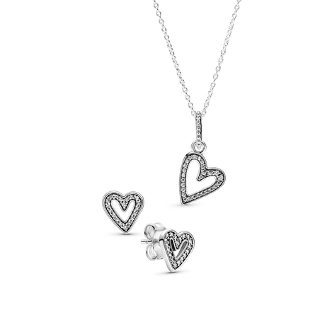 Sparkling Freehand Heart Gift Set