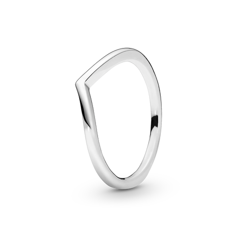 Polished Wishbone Ring