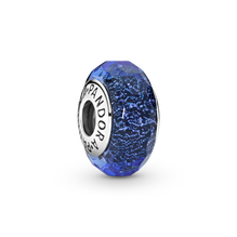 Faceted Blue Murano Glass Charm