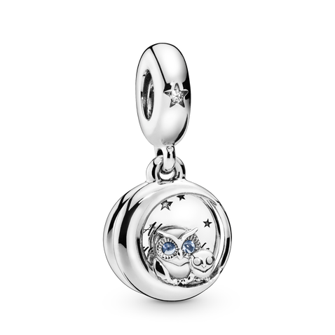Always by Your Side Owl Charm med vedhæng