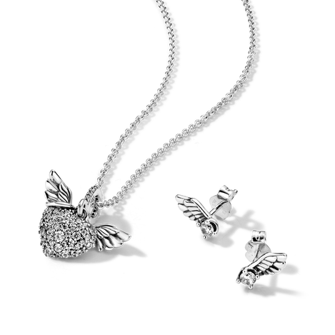 Pavé Heart & Angel Wings Gift Set