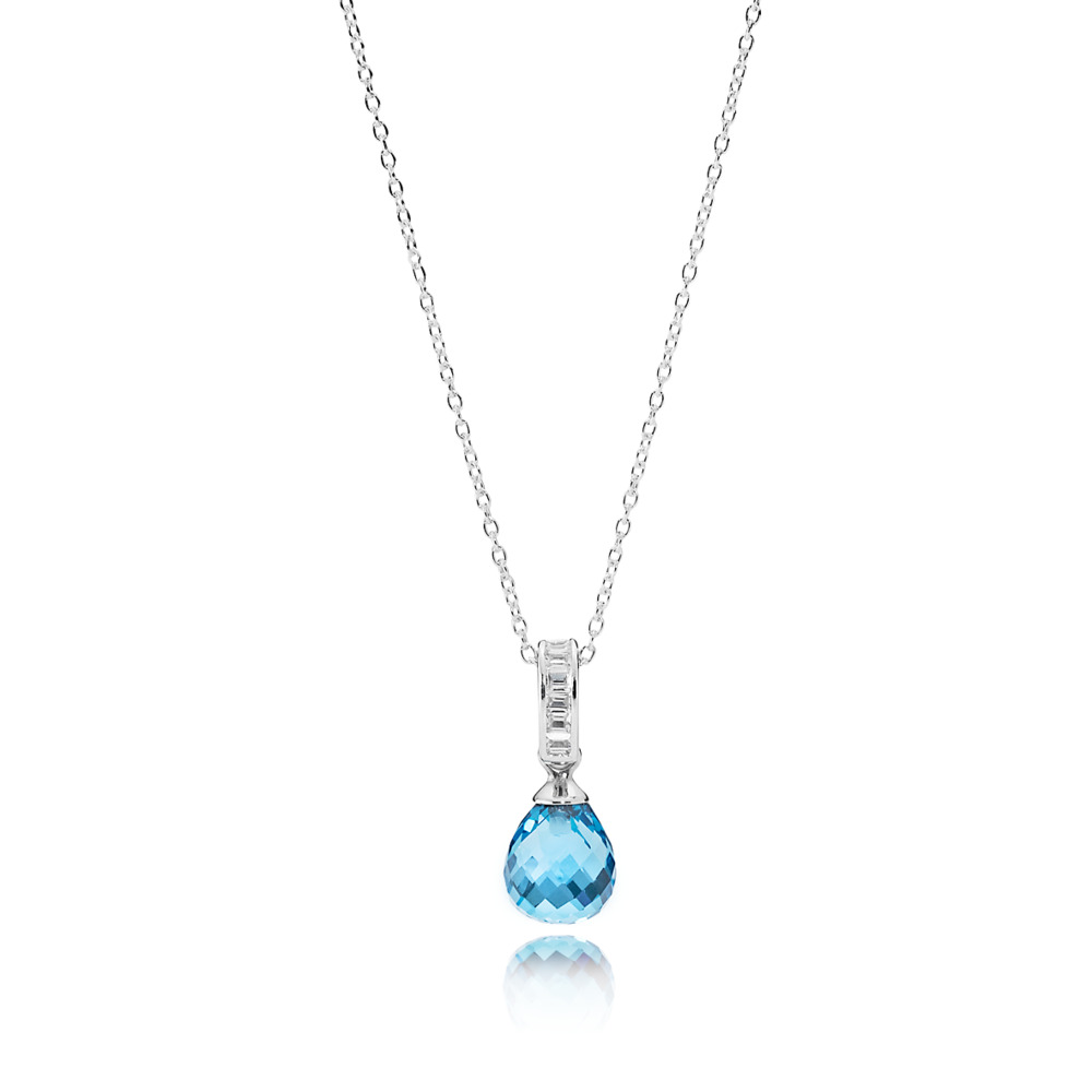 Sky Blue Frosted Droplet