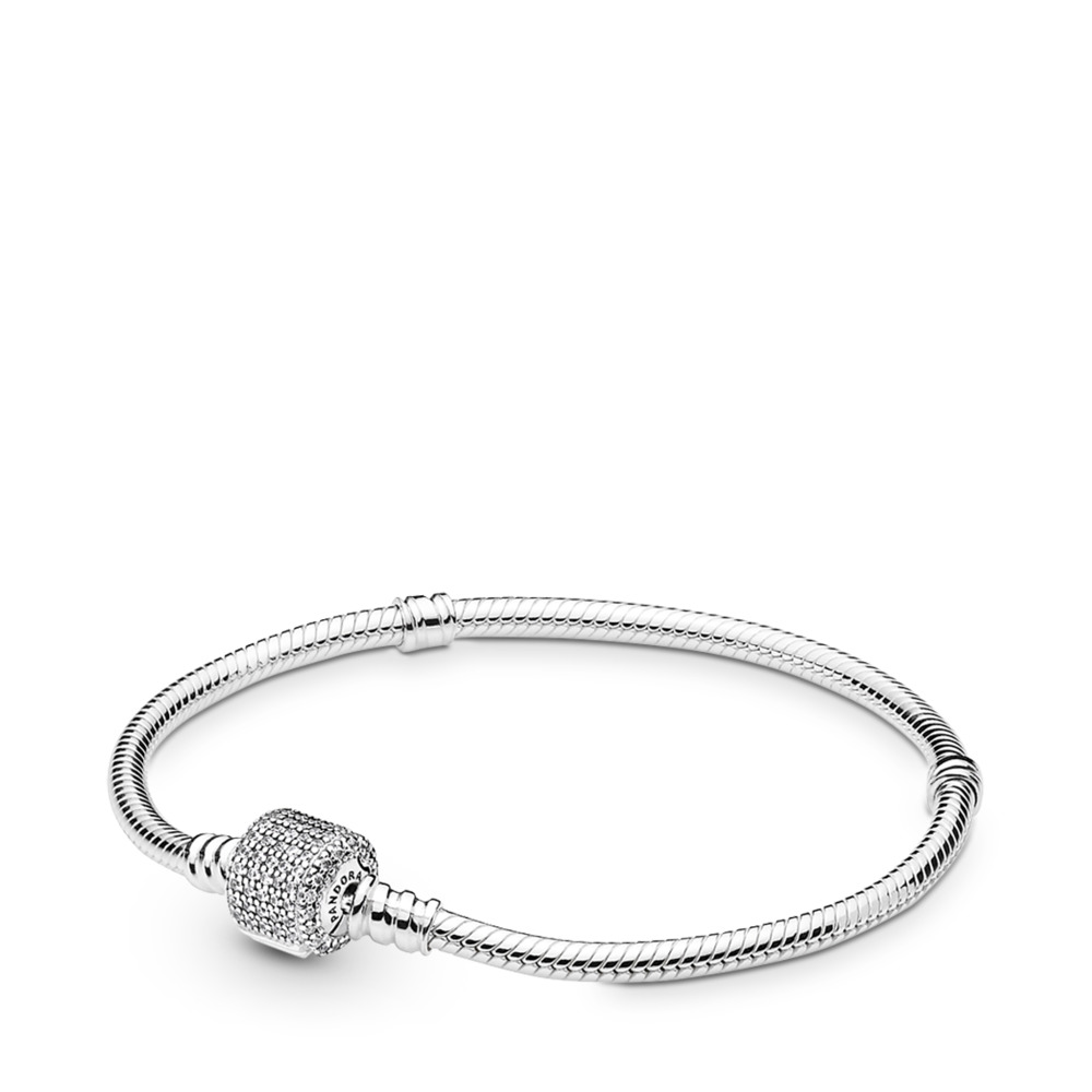 Moments Silver Bracelet, Signature Clasp