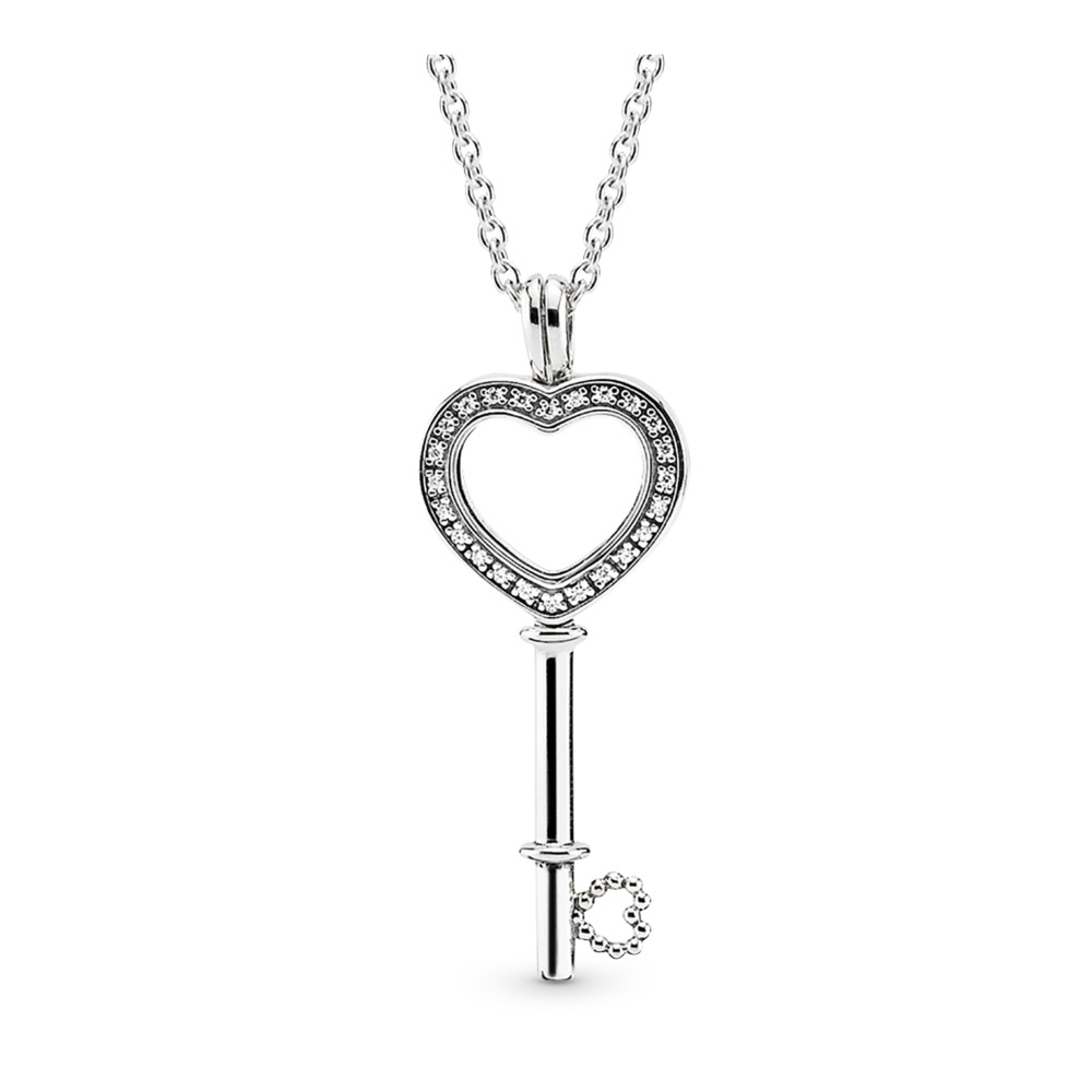 Floating Locket Heart Key