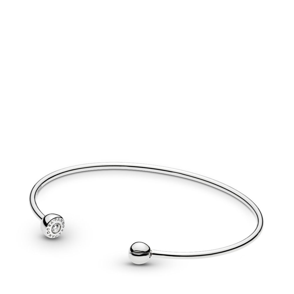 ESSENCE Silver Open Bangle